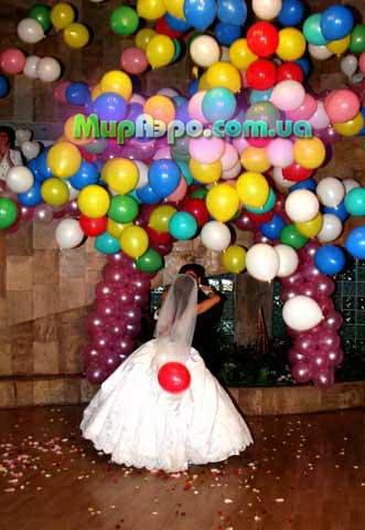 воздушные шары на свадьбу