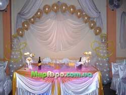 Украшение свадебного зала Одесса