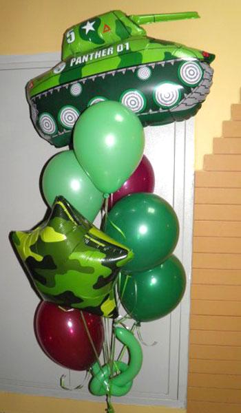 Воздушные шары на 23 февраля.