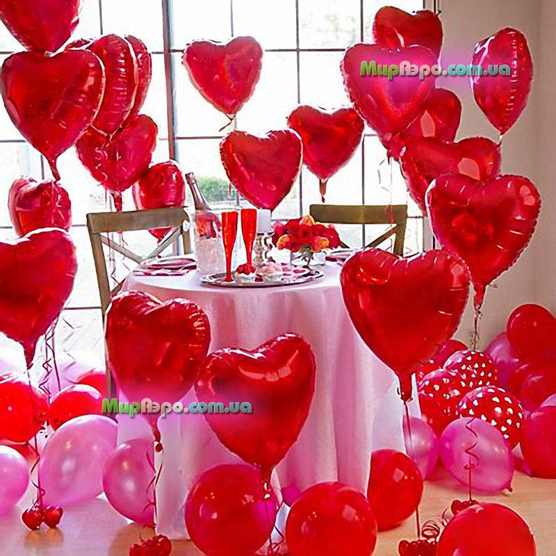 Шарики на день святого Валентина в Одессе
